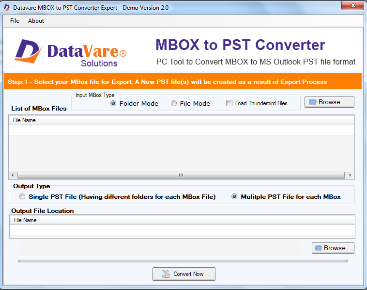 Toolsbaer MBOX to PST Conversion Tool full screenshot