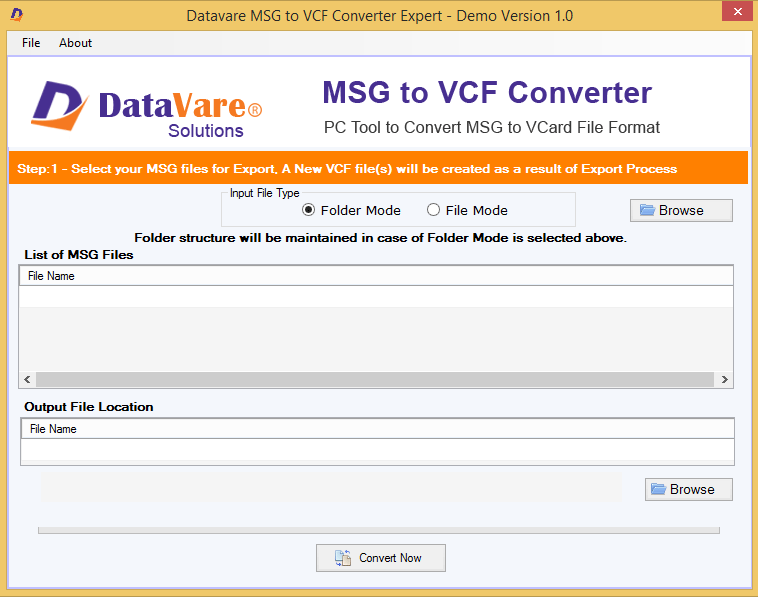 Toolsbaer MSG to VCF Conversion Tool