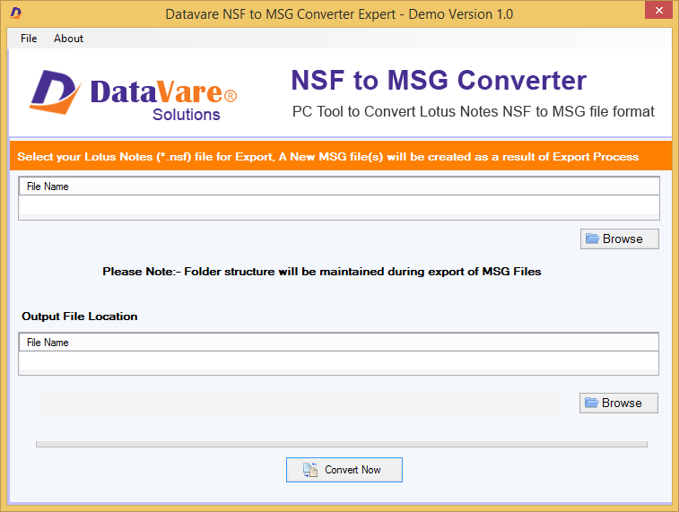 Toolsbaer NSF to MSG Conversion Tool full screenshot