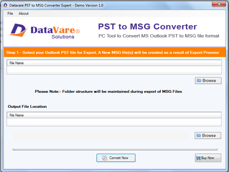 Toolsbaer PST to MSG Conversion Tool full screenshot