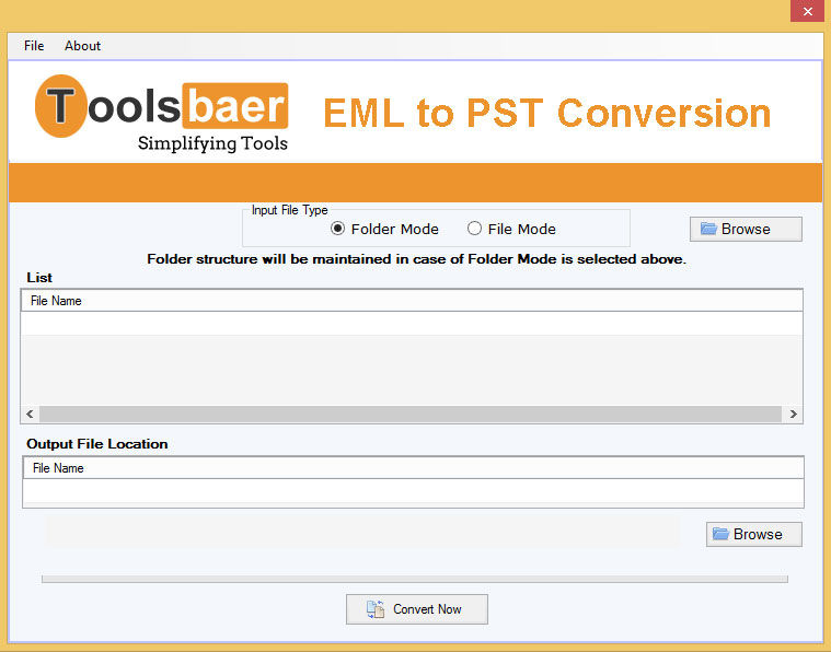 ToolsBaer EML to PST Conversion full screenshot