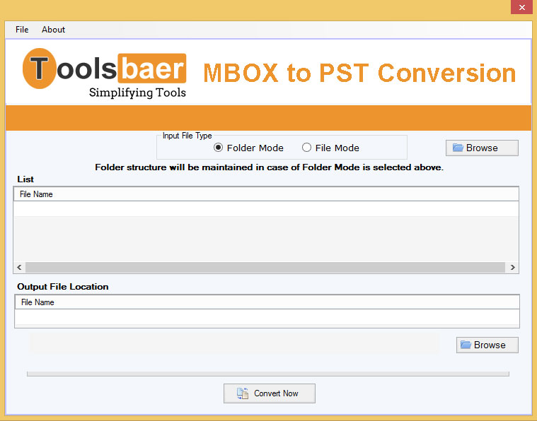 ToolsBaer MBOX to PST Conversion