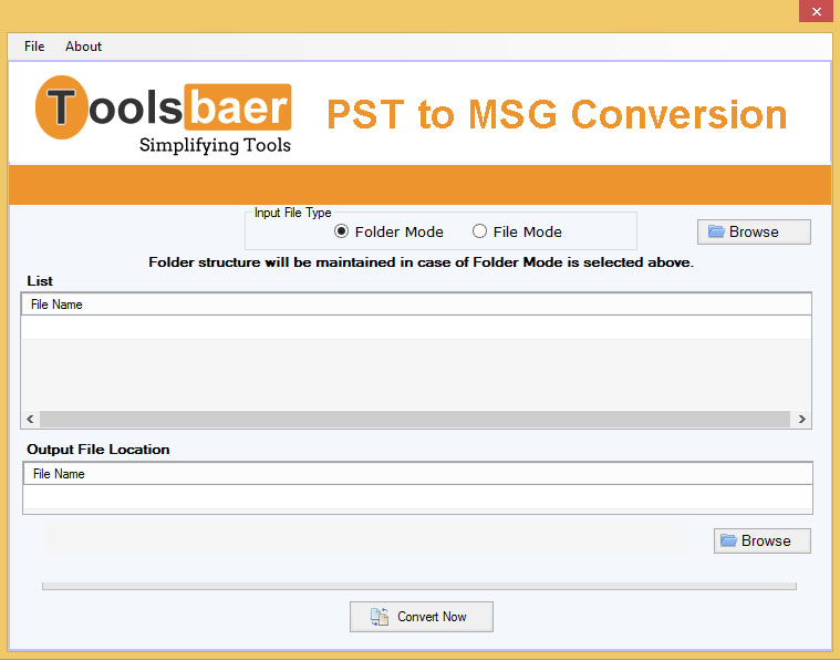 ToolsBaer PST to MSG Conversion
